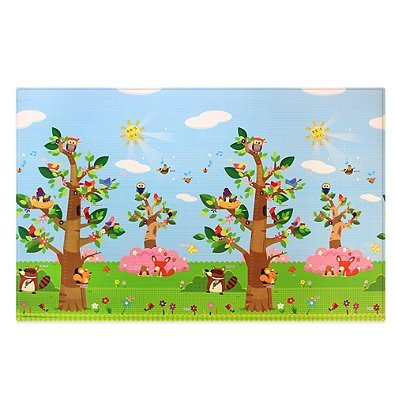 BABY CARE Large Baby Play Mat in Birds in Trees by BABY CARE