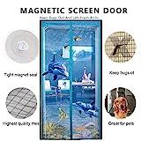 DULPLAY 3d frame velcro Magnetic screen door,Mesh curtain,Magic door mesh Breathable Seal Diy Adjustable window screen -D 95x200cm(37x79inch)