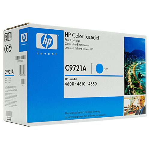 HP C9721A - Toner cartridge - 1 x cyan - 8000 pages - for Color LaserJet 4600, 4610,