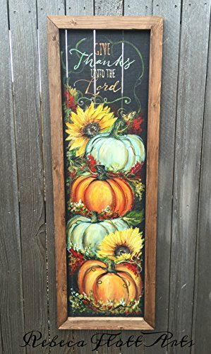 (Pumpkin, Fall, Hand Painted, Window Screen, Custom, Hand Crafted, Unique )