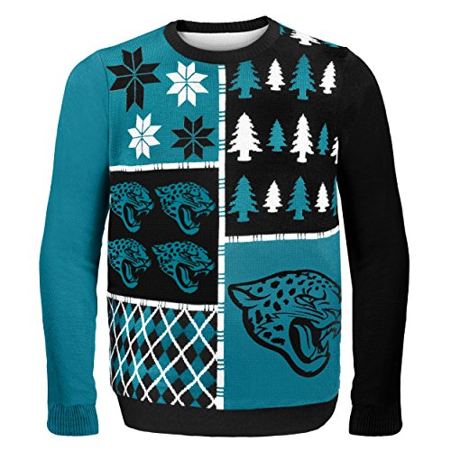 Jacksonville Jaguars Busy Block Ugly Sweater Medium - Jacksonville Jaguars Collectibles