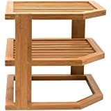 Lipper International Bamboo 3-Tier Corner Shelf, Brown