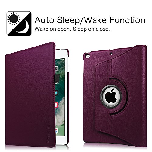 Large Product Image of Fintie iPad 9.7 inch 2018 2017 / iPad Air Case - 360 Degree Rotating Stand Protective Cover with Auto Sleep Wake for Apple iPad 9.7 inch (6th Gen, 5th Gen) / iPad Air 2013 Model, Purple