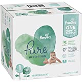 Size 1, 198 Count - Pampers Pure Disposable Baby Diapers, Hypoallergenic and Fragrance Free Protection, ONE Month Supply