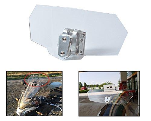 Adjustable Clip On Transparent Windscreen Windshield Extension Spoiler Wind Deflector Adjustable Lockable For Motorcycle