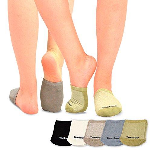- TeeHee Womens Bamboo Toe Topper Liner Socks 5-Pack (Basic)