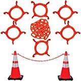 Product review for Mr. Chain 97413-KIT Cone Chain Connector Kit, Traffic Orange