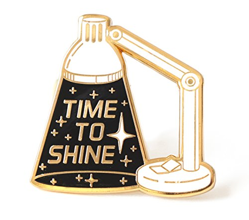 Amazon.com: Compoco Space Inspired Enamel Pin Inspirational Lapel Pin Time to Shine Lamp: Clothing