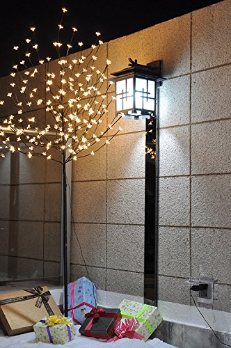 PatioBuddy Christmas Cherry Blossom Tree Lights with Flexible Branches,6 Feet 208 LED Lights,Warm White,Ideal for Christmas, Holiday, Home, Party, Wedding