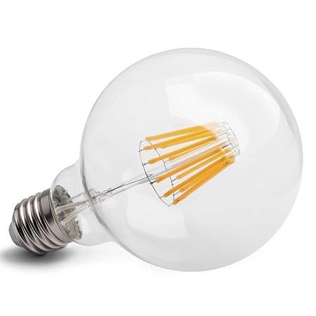 E27 LED Glühfaden Birne Midi Globe 12w COB Extra Warmweiß - 100w ...