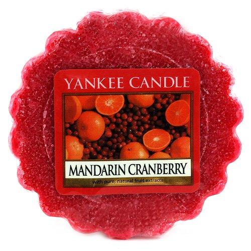YANKEE CANDLE 1065589 Pastille Parfumée Tartelette Mandarine et Canneberge Rouge