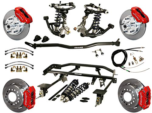 NEW RIDETECH COILOVER & 4-LINK SYSTEM,CONTROL ARMS,SPINDLES,SWAY BAR & WILWOOD DISC BRAKE KIT,11