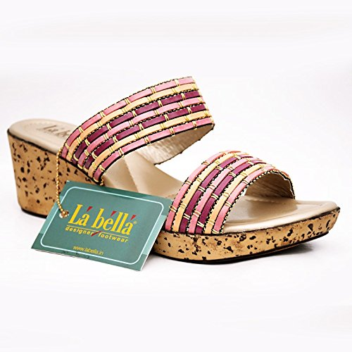 3ce49a747 LA BELLA LADIES FANCY SANDALS (6)  Buy Online at Low Prices in India ...