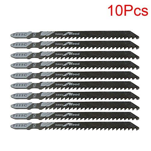 LDEXIN 10pcs T111C 4-Inch Metal Wood PVC Cutting Cobalt Steel T-Shank Jig Saw Blades Set - Cobalt Steel T-shank Jigsaw Blade