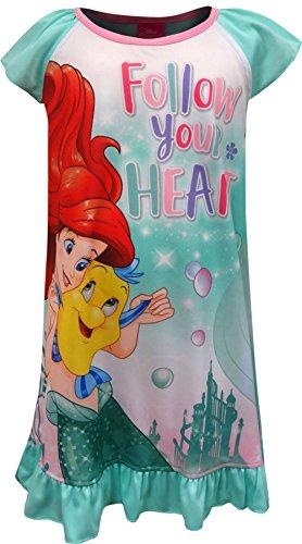 Disney Princess Little Mermaid Ariel Follow Your Heart Nightgown For Little Girls (4)