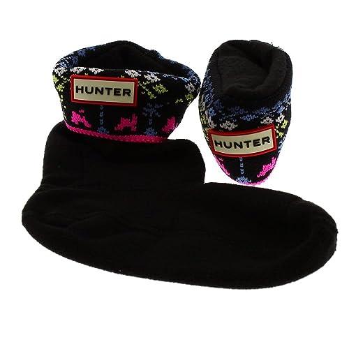 Calcetines niña para Botas Agua Hunter Socks Kids Arcade Cuff: Amazon.es: Zapatos y complementos