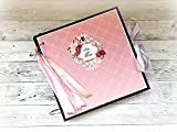 Kristabella Creations 12x12 2 wedding scrapbook album, Large photo album, Wedding gift, 20 inner pages, metal rings binder