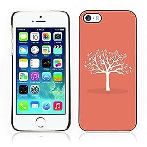 Carcasa Funda Case // V0000724 White Tree With Leaves // Apple Iphone 5 5S