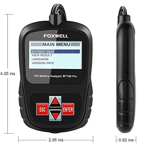FOXWELL FBA_BT100 Pro Battery Analyzer CCA Automotive Battery Load Tester Detect Health Directly 6V/12V 100-1100 by FOXWELL (Image #6)