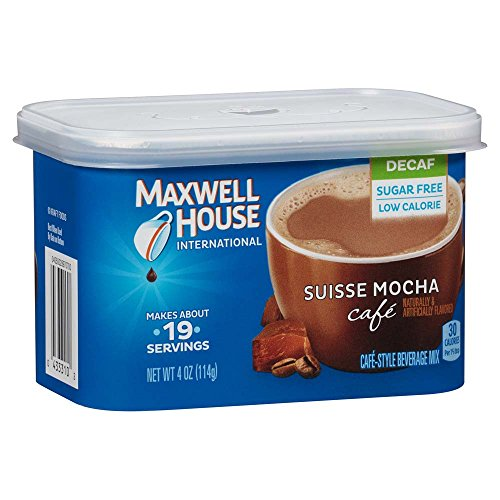 Maxwell House International Cafe Decaf Suisse Mocha Instant Coffee (4 oz Canisters, Pack of 6)
