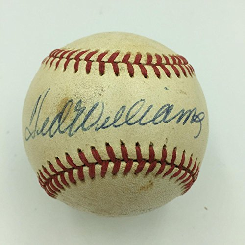 Ted Williams Autographed Baseball - Official American League COA - PSA/DNA Certified - Autographed Baseballs