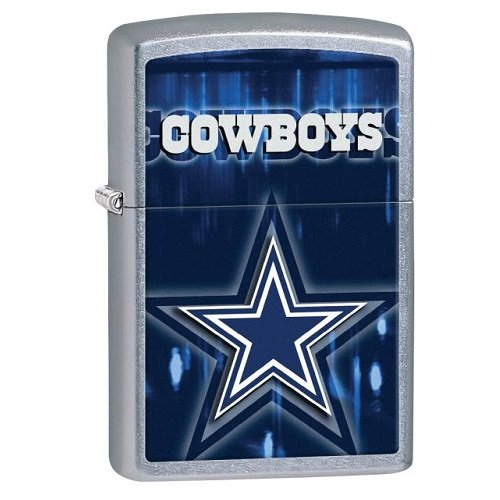 Team Logo Zippo Lighter (Zippo NFL Dallas Cowboys Street Chrome Pocket Lighter)
