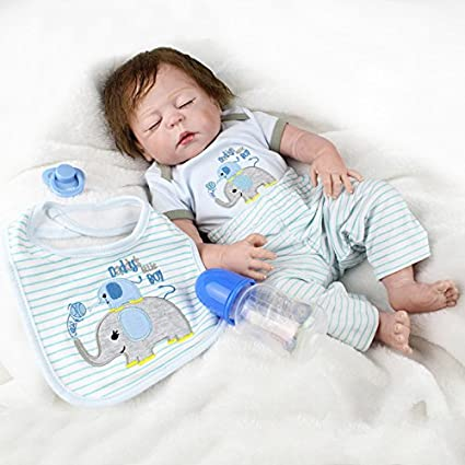 Amazon.com: Realista Baby Dolls Niño recién nacido, Full ...