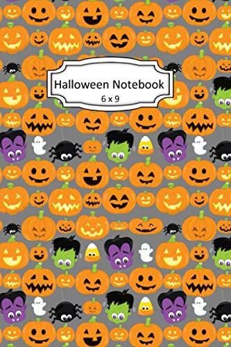 Cute Halloween Pumpkin Clipart (Halloween Notebook: Pumpkin Clip Art Images on 6 x 9 Blank Lined Softcover Journal for Notes , Halloween Gift Design Cover Note)