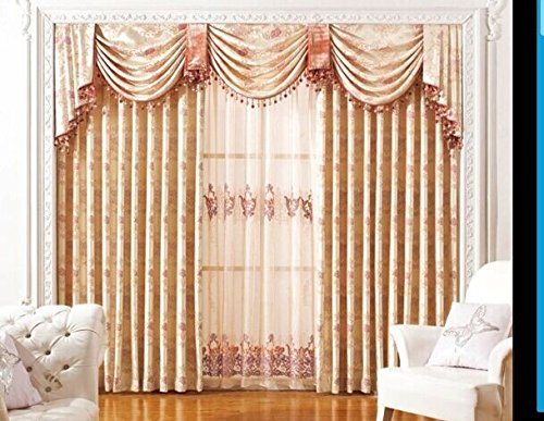 airdodo luxury european decorative style pearl white 70inch by 84inch grommet top curtain one panel