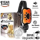 LOVATIC Anti Bark Collar - Humane, No Shock Dog Bark Collar - Training Collar Control Barking With Vibration & Sound Stimuli - 7 Levels Sensitivity Adjustment - Waterproof Led Clip Gift