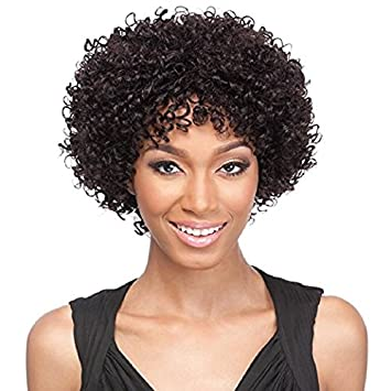 Amazon.com   It s A Wig! Women HH Leisha 100% Human Hair Short Curly ... 777aefd924