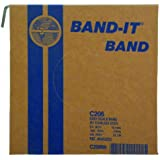 "BAND-IT C20699 201 Stainless Steel Bright Annealed Finish Band, 3/4"" Width X 0.030"" Thick, 100 Feet Roll"