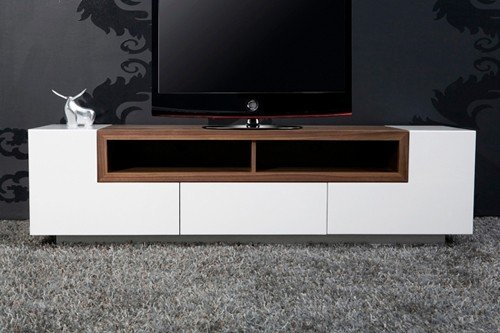Fernsehschrank design  Design Fernsehschrank TV Stand Empire walnuss-weiss Fernsehregal ...