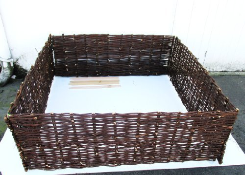 Master Garden Products Deep Woven Willow Raised Bed, 48 x 48 x 18-Inch by Master Garden Products by Master Garden Products