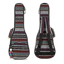 HOT SEAL® 10MM Waterproof Durable Ethnic Ukulele Case Bag Bohemia style