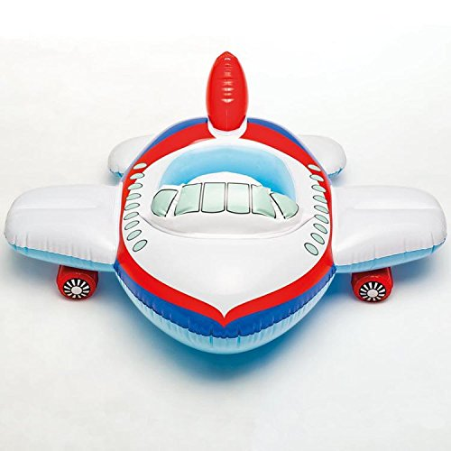 DreamHank Kids Swim Ring Tube Pool Float Seat Baby Swimming Raft inflatable boats (Airplane)