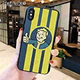 Yellow Fallout iPhone 5C Case, New Vegas Boy Expression iPhone 5 C Cover Post-Apocalyptic Computer Role Playing Game Phone Cover Half Wrapped Case, TPU