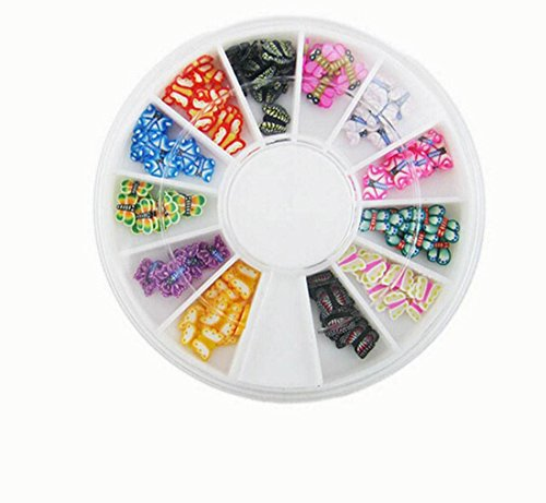 120 PcsEssential Popular 3D Random Mixed Fimo Nail Art Wheel Polymer Clay Slice Colorful Non-Toxic Primer DIY Type - Shades Fly 2016