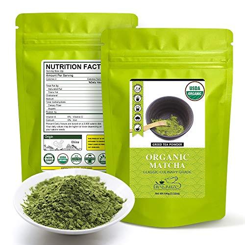50 Servings Organic Matcha Green Tea Powder,100% Pure Matcha Green tea Powder ,Nothing added,(USDA Certified Matcha Tea Powder)