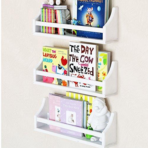 Set of 3 Stylish Baby Nursery Room Wall Shelf Sturdy Birch Wood (Short (20