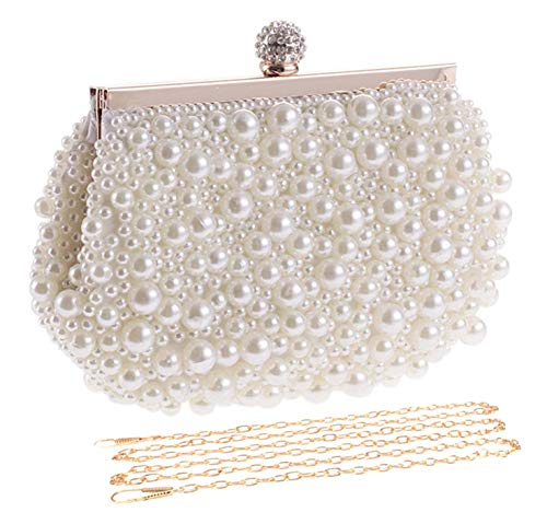 UBORSE Artificial Pearl Beaded Clutch...