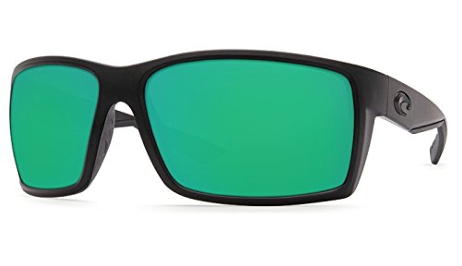 Costa Reefton Sunglasses Blackout / Green Mirror 580G & Cleaning Kit Bundle
