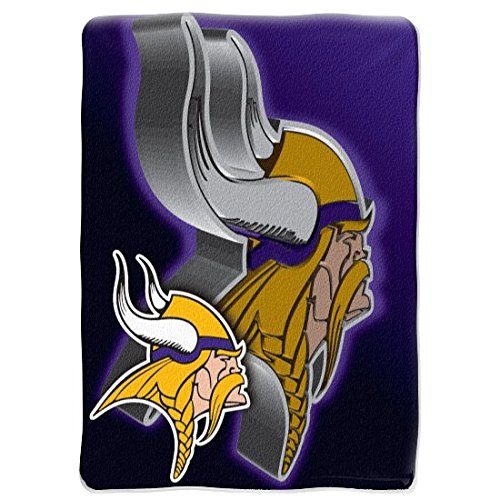 80 Inch Micro Raschel Blanket (NFL Minnesota Vikings 60-Inch-by-80-Inch Micro Raschel Blanket,
