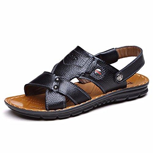 Schwarzi 5 Sapato Cn Praia Eu 40 Homens 6 7 Nós 40 Uk Tendência Verão Couro Genuíno Respirável Lazer Sandálias wX6xzqIH