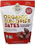 ORGANIC Pitted Dates (Deglet Nour) - Sunny Fruit 40oz Bulk Bag (2.5 lbs) | NO Added Sugars, Sulfurs or Preservatives…
