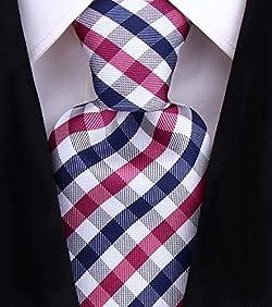 Scott Allan Mens Gingham Plaid Necktie