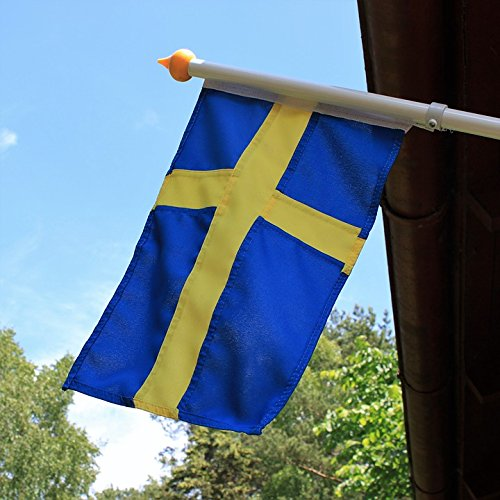 Home Comforts Framed Art for Your Wall Swedish Flag Maypole Summer Vacation Midsummer 10x13 -
