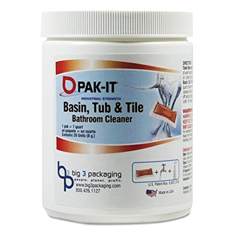 Awesome PAK ITiuml;iquest;frac12; Quot;Basin, Tub And Tile Cleaner