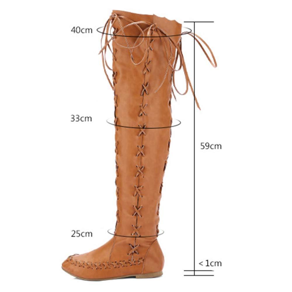 YR-R Femmes Bottom Bottom Bottom Toe Tie Side Zipper Creux pour Knight Bottes pour Creux Dames Chaussures De Mode De Partie Grande Taille 33-43B07H96RDWXParent d0ab46