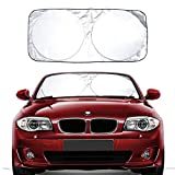 Car Windshield Sun Shade Excellent UV Reflector, Keeping You Cooler With A Pristine Interior, Block Out 99% UV Rays Heat Car SunShade Keep Automobile Cool Easy to use (59x27.5 Inches)